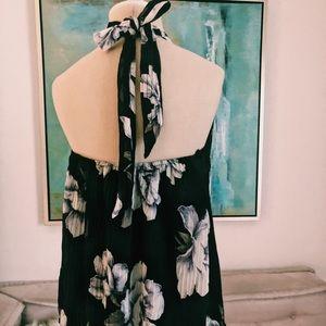 Floral Tie Back Halter Top